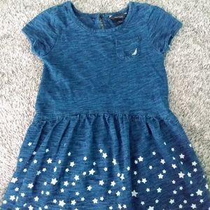 Nautica Heather blue short sleeve dress